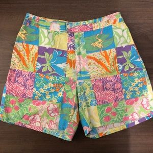 Lilly Pulitzer | Floral Abstract Print Shorts